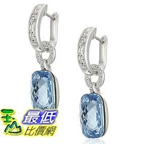 [美國直購] Sterling Silver Blue Crystal Swarovski Elements Drop Earrings 耳環