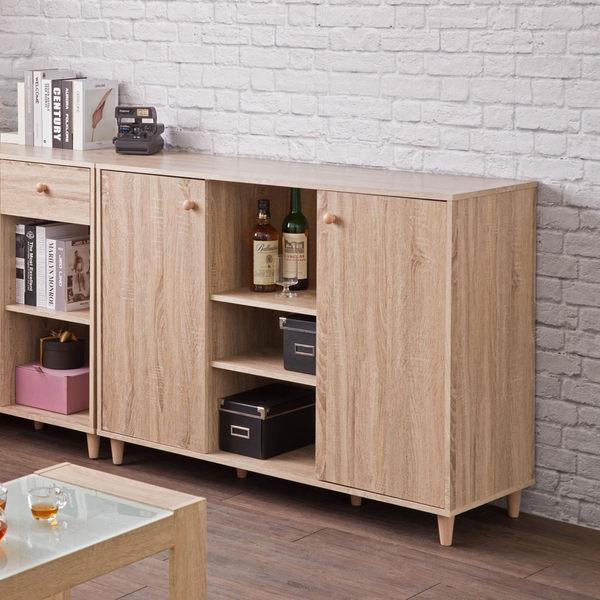 櫥櫃 碗盤櫃 收納【收納屋】田藤雙門三格廚房櫃&DIY組合傢俱