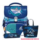 Tiger Family 小學者 全球新一代智能秒開磁扣護脊書包 -- 鯊魚寶貝 NO.H2842