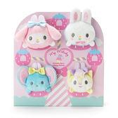 Hamee 日本正版 三麗鷗 美樂蒂 草莓遊樂園 絨毛娃娃 沙包疊疊樂 掌上型 豆豆玩偶組 112488