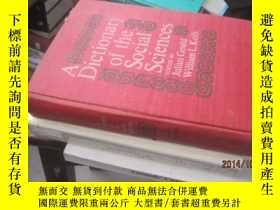 二手書博民逛書店A罕見Dictionary of the social scie