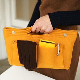 INJOY Mall【S108060】韓國Invite L  Felt  bag in bag優雅好設計手提萬用包 收納包