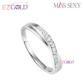 Miss Sexy銀飾♥交織線條♥銀飾戒指(女)