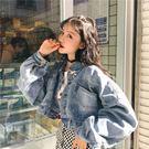牛仔外套2019春季新款韓版蝙蝠袖牛仔外套女復古百搭寬鬆長袖短款夾克上衣 衣間迷你屋