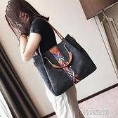 子母大包包女2021新款潮韓版百搭簡約時尚大容量手提單肩斜背女包