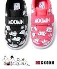 【2wenty6ix】★正韓 ★ SKONO X MOOMIN 嚕嚕米 ☀ 聯名款 魔術帶 休閒平底帆布鞋(男童/女童)