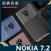 NOKIA 7.2 甲殼蟲保護套 軟殼 碳纖維絲紋 軟硬組合 防摔全包款 矽膠套 手機套 手機殼 諾基亞
