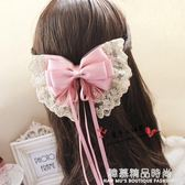 韓國手工大款蝴蝶結發飾頭飾蕾絲發夾發卡韓版頂夾飾品頭花