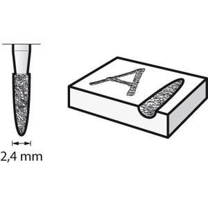 Dremel 7144 3/32 2.4mm 尖錐鑽石滾磨刀