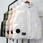 百搭棉馬甲 韓版短款學生棉服外套