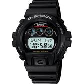 CASIO 卡西歐 G-SHOCK 極簡太陽能電力手錶-黑 G-6900-1 / G-6900-1DR