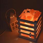 水晶鹽燈創意台燈臥室床頭夜燈時尚精美擺件溫馨禮物【中秋節促銷】