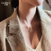高級感字母吊墜項鏈女鎖骨鏈潮網紅簡約氣質頸鏈毛衣鏈脖子飾品