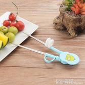 注水保溫碗筷餐具學習筷幼兒童練習筷子訓練筷勺叉碗輔食餐具一段 卡布奇諾