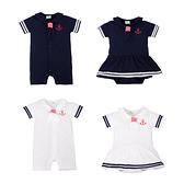 短袖連身衣 男女寶寶海軍領短袖包屁衣 S71015