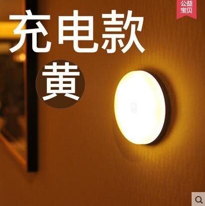 led充電樓道起夜光聲控創意臥室床頭自動人體感應壁燈LY1997『愛尚生活館』