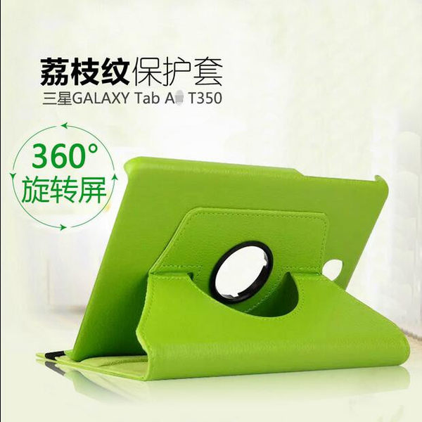 【SZ22】 三星 TAB A 8.0 8/9.7吋 旋轉皮套 平板 荔枝紋 皮革 支架 保護套  側翻 P350/T350/T550 360度