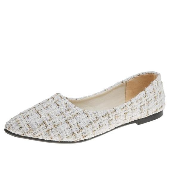 小香風單鞋女年款百搭韓版仙女溫柔鞋尖頭平底鞋 源治良品
