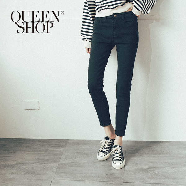 Queen Shop【04101375】基本黑色百搭款修身長褲 S/M/L/XL*現+預*