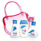 全新 德國施巴 小熊旅行組 (嬰兒泡泡浴露50ml*1+嬰幼兒洗髮乳50ml*1+嬰兒潤膚乳液20ml*1)