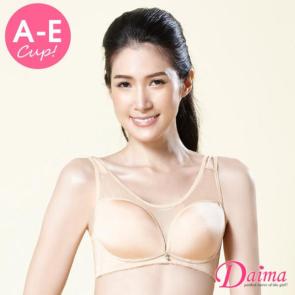 內衣(A-E) 優雅心機性感裸肌網紗機能集中內衣(膚色)【Daima黛瑪】