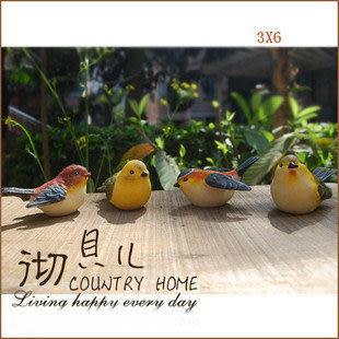 特*田園家居花園裝飾 仿真小鳥群組1套4隻