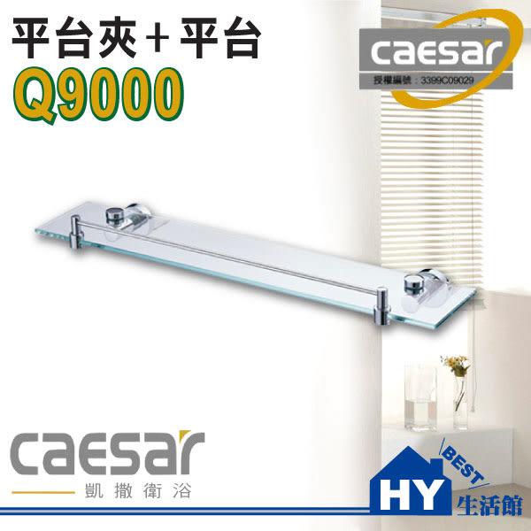 凱撒衛浴配件 Q9000 玻璃平台架 置物板 化妝鏡平台 [區域限制]