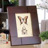 實木相框擺台創意7寸6六七寸5 8 10木質像框照片框兒童畫框相架  9號潮人館