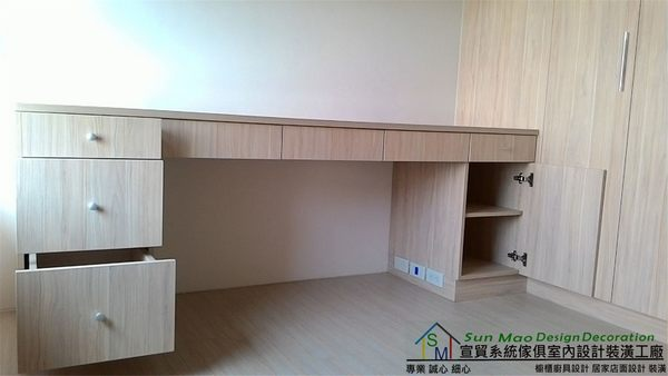 系統家具/系統櫃/木工裝潢/平釘天花板/造型天花板/工廠直營/系統家具價格/系統書桌-sm0566