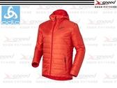 【速捷戶外】《ODLO》525162 PRIMALOFT 男長效保暖防風防潑水保暖外套(橘紅) -雙面可穿 隨意變色