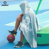 毛巾 準者運動毛巾男女籃球運動親膚柔軟連帽浴巾健身房快速吸水浴袍