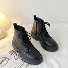 黑色馬丁靴女冬季薄款2020年秋季新款厚底帥氣機車靴英倫風短靴潮 安雅家居館