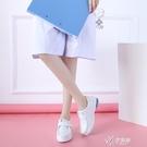 冬季白色護士鞋秋款亖攵秋冬款女不累腳軟底透氣防臭厚底增高 【快速出貨】