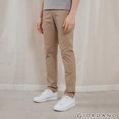 【GIORDANO】男裝基本款彈性低腰長褲-12 虎眼石卡其