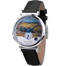 梵谷Van Gogh Swiss Watch小秒盤梵谷經典名畫男錶 C-SLMT-26 麥田風景