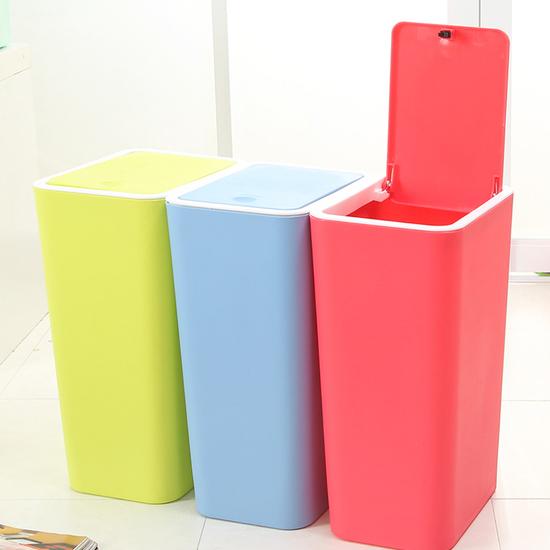 按壓式彈蓋垃圾桶 廚房 浴室 客廳 衛生紙 分類 環保 時尚 落地 整潔 乾淨【A020】MY COLOR