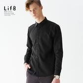 Formal 超親膚手感 經典斜紋 長袖襯衫-黑色【11157】