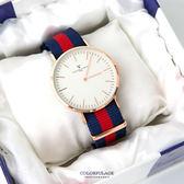 范倫鐵諾Valentino 玫瑰金刻度帆布手錶對錶腕錶 中性款男女皆可 柒彩年代【NE1650】單支
