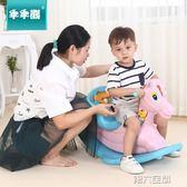 搖馬 木馬加厚塑料兒童玩具搖馬帶音樂大號寶寶搖椅嬰兒周歲禮物 第六空間 igo