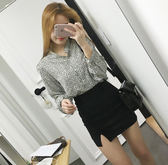 窄裙   2018春夏新款包臀裙高腰半身裙開叉彈力一步裙黑色職業短裙