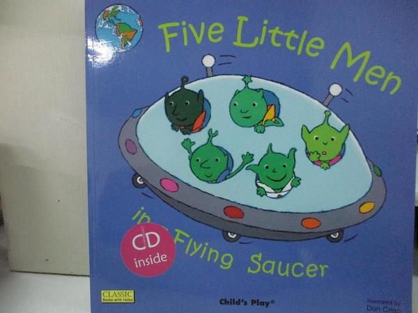 【書寶二手書T8/原文小說_KTF】Five Little Men in a Flying Saucer (Classic Books With Holes) (Book +CD)_Dan Crisp