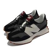 New Balance 休閒鞋 327 女鞋 黑 灰 焦糖底 主打款 大N 紐巴倫 NB【ACS】 WS327KC-B