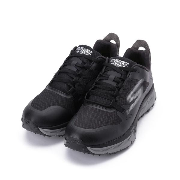SKECHERS 健走系列 GO TRAIL ULTRA 4 綁帶運動鞋 黑灰 246030BKGY 男鞋