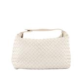 【BOTTEGA VENETA】 小羊皮手提包(白色) BV12000019