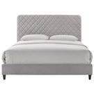 皮床 布床架 SB-11210 舒曼5尺灰布雙人床(不含床墊及床上用品)【大眾家居舘】