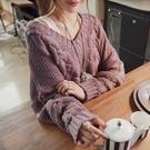 個性日系學生潮流秋冬保暖打底衫 可愛女生針織衫 女生韓版毛衣長袖 女士毛衣時尚加厚上衣
