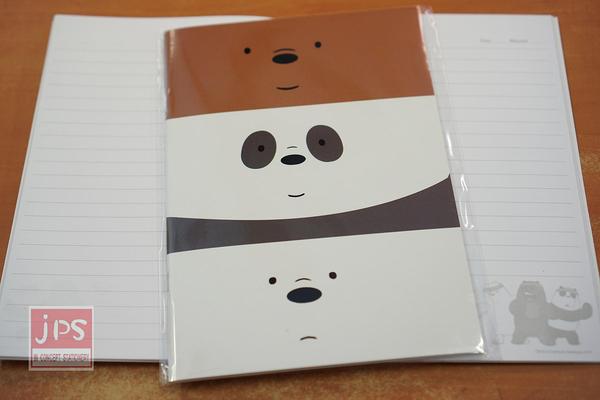 熊熊遇見你 25K 固頁 橫線 筆記本 大臉