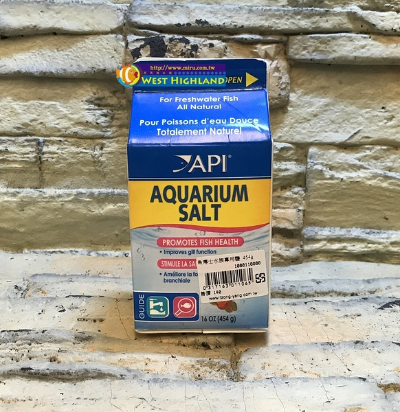 【西高地水族坊】美國魚博士API 水族專用粗鹽AQUARIUM SALT(454g)