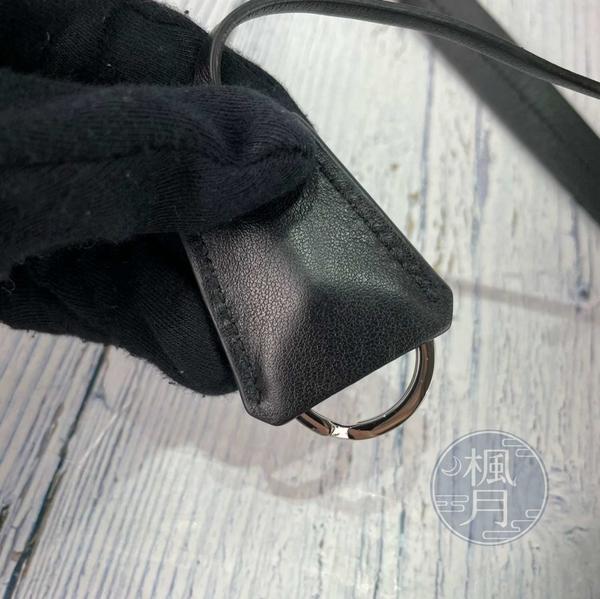 BRAND楓月 PRADA 黑色 尼龍 皮革 雙面用 TOTE 托特包 肩背包 側背包 洞洞包