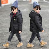 羽絨外套 男童棉衣外套中長款冬裝韓版童裝中大童兒童 交換禮物